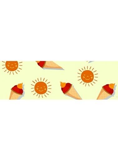 Artikel Güneş ve Dondurma Desenli Runner Masa Örtüsü 43,5x141,5cm Renkli